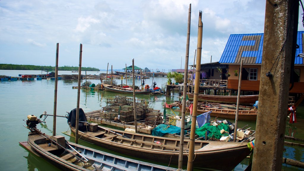 Phang Nga which includes a bay or harbor and a lake or waterhole