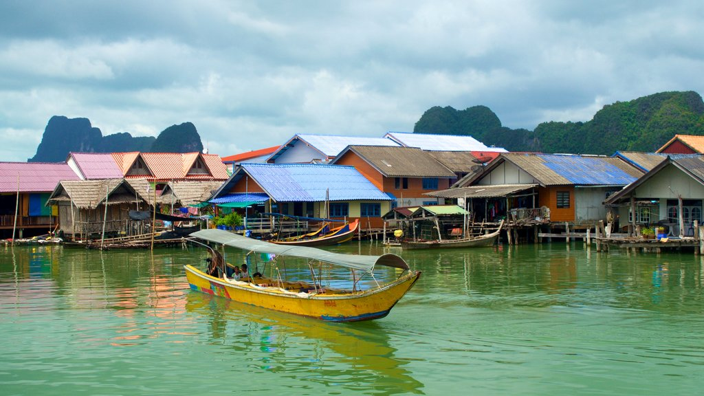 Phang Nga which includes boating and a coastal town