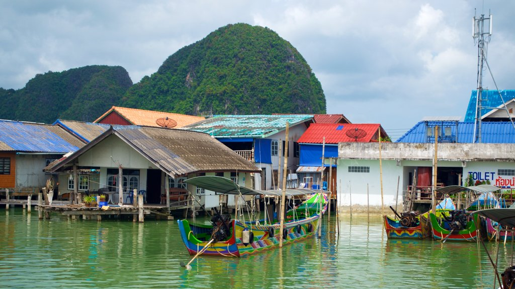 Phang Nga featuring boating and a coastal town