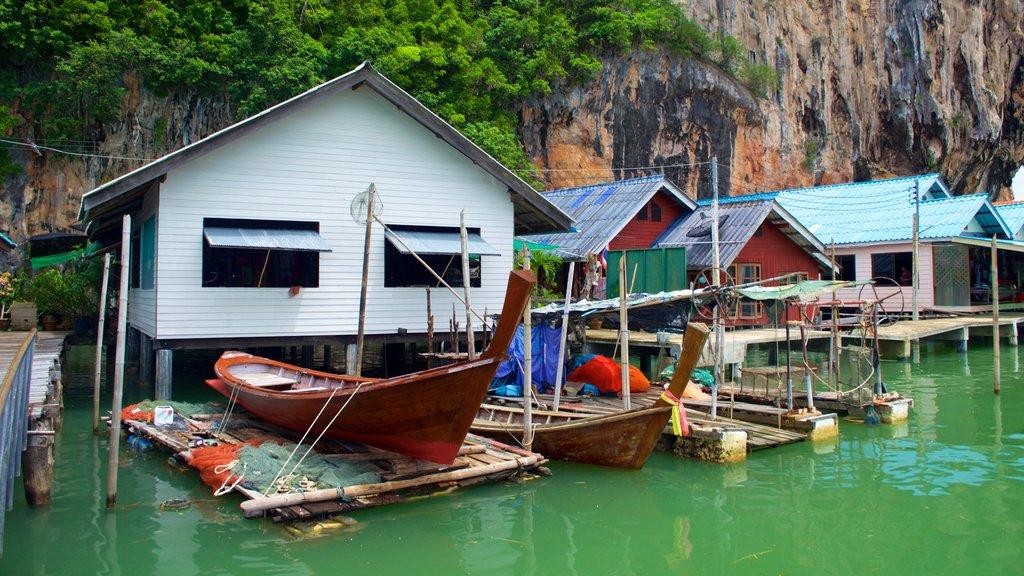 Phang Nga which includes a coastal town