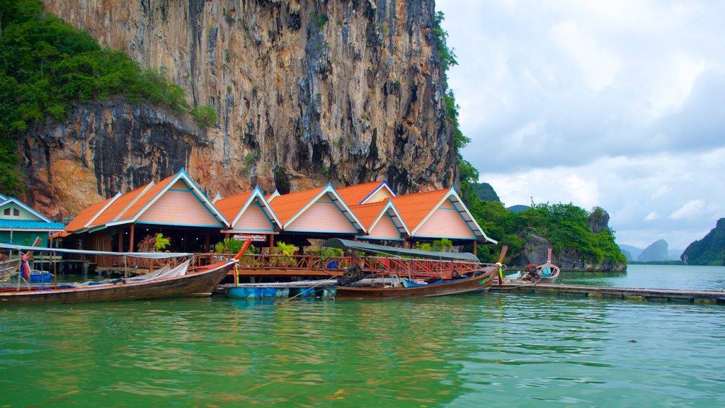 Phang Nga featuring a coastal town