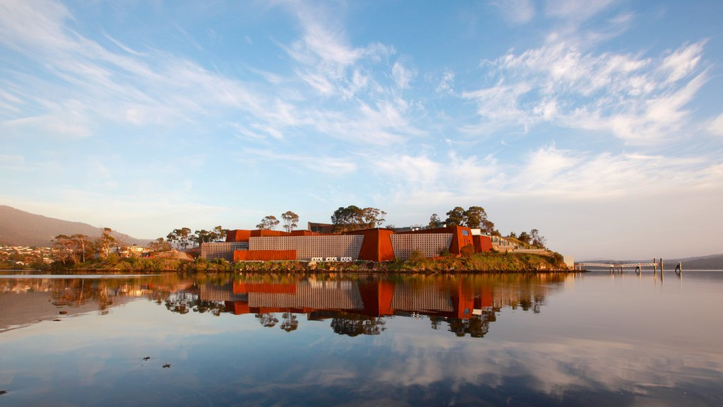 Museum of Old and New Art featuring a lake or waterhole