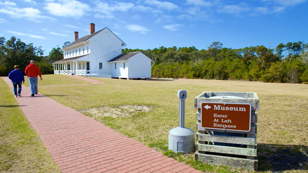 Cape Hatteras Lighthouse showing a house