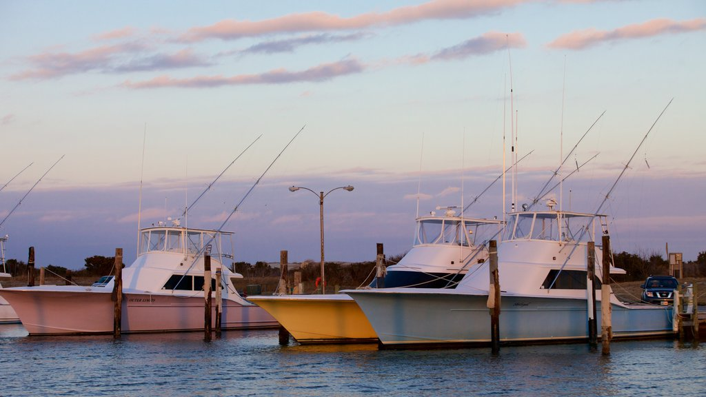 Oregon Inlet Fishing Center featuring fishing, boating and a lake or waterhole