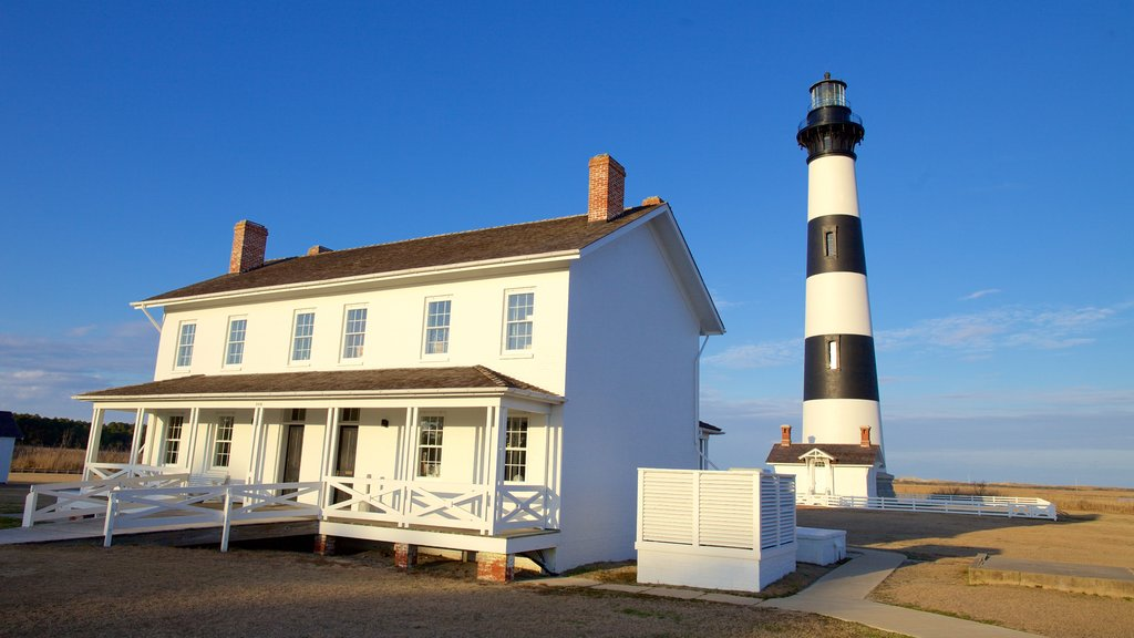 Bodie Island Lighthouse showing a lighthouse