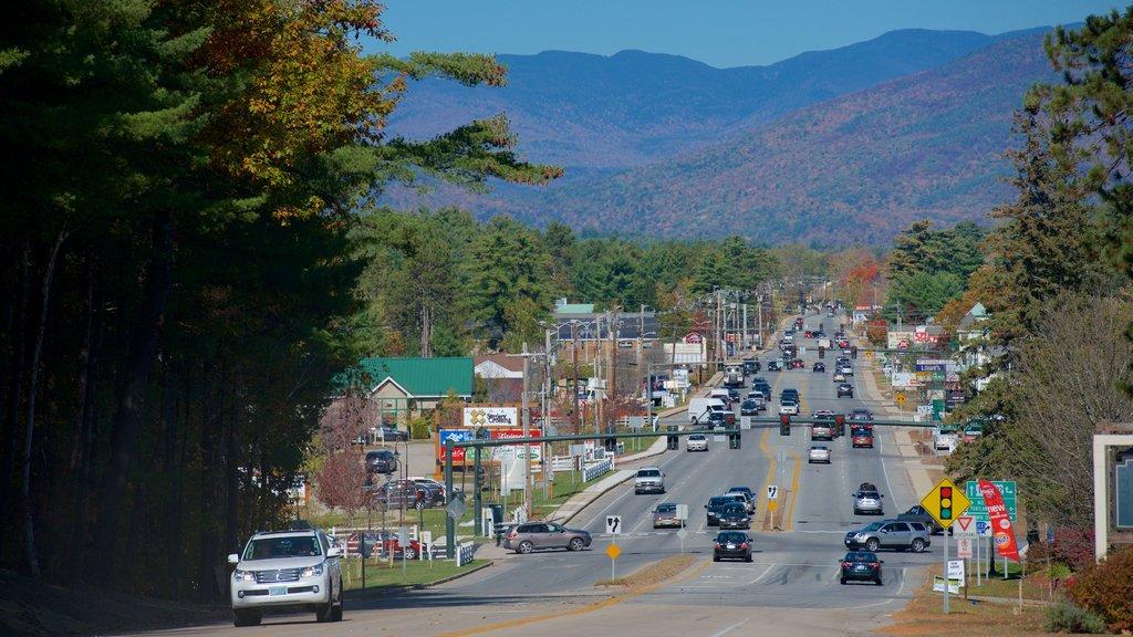 North Conway ofreciendo una ciudad
