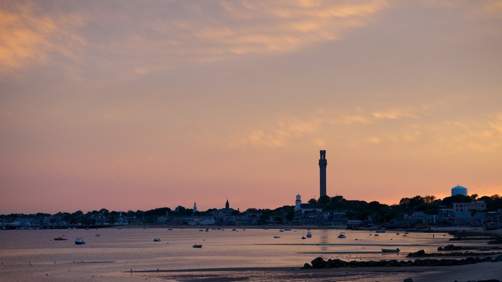 Provincetown featuring a sunset and general coastal views