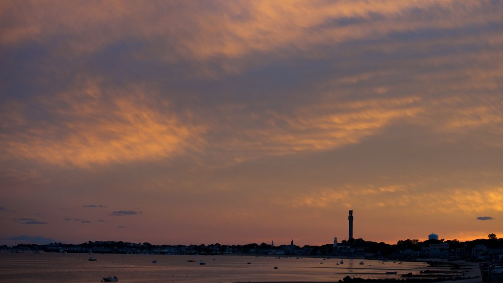 Provincetown showing a sunset and general coastal views