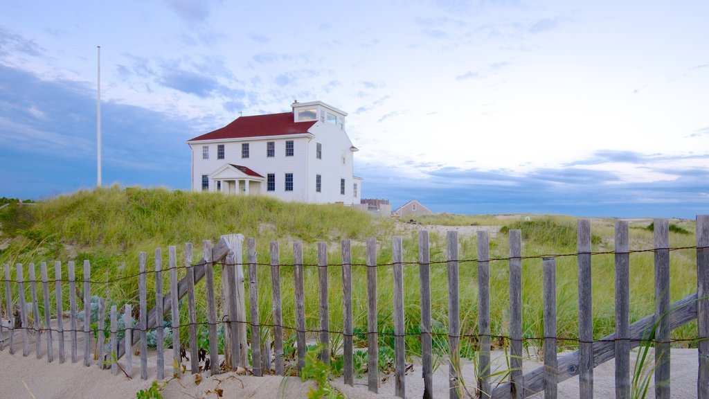 Provincetown which includes a house and general coastal views