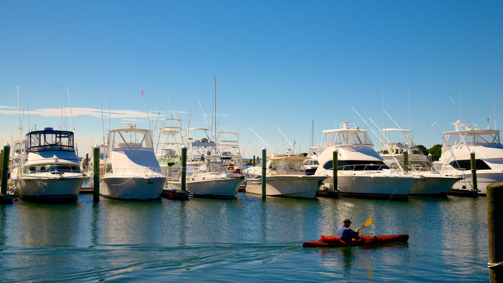 Falmouth featuring kayaking or canoeing and a marina