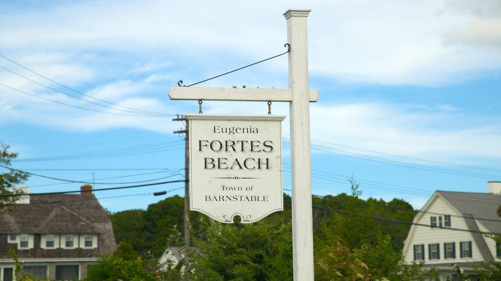 Barnstable showing signage