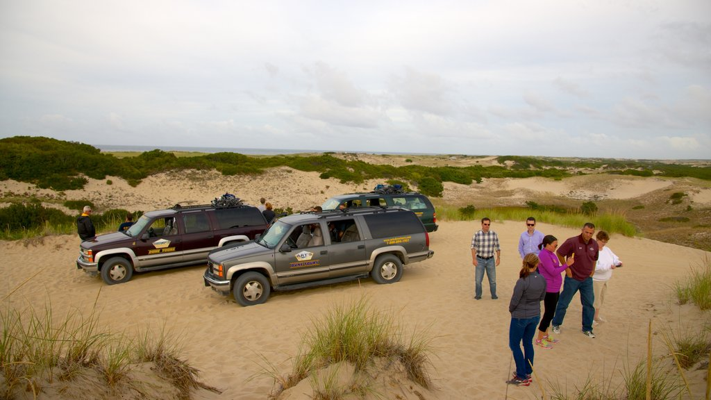 Eastham which includes off road driving as well as a small group of people