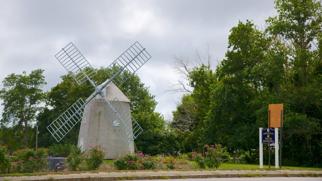 Salt Pond Visitor Center which includes a windmill
