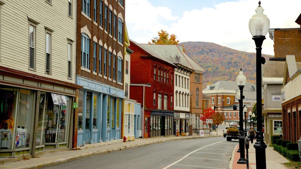 North Adams showing street scenes