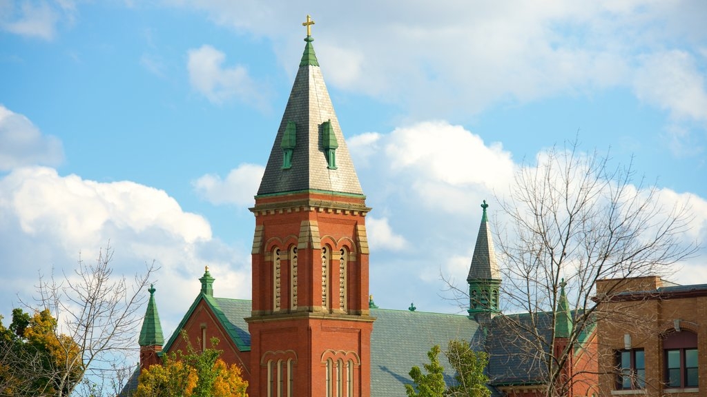 Pittsfield showing a church or cathedral