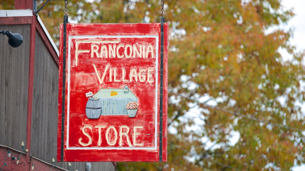 Franconia which includes signage