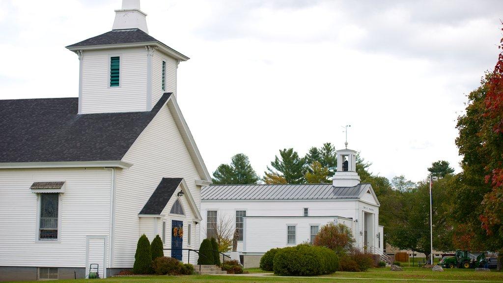 Franconia ofreciendo una iglesia o catedral