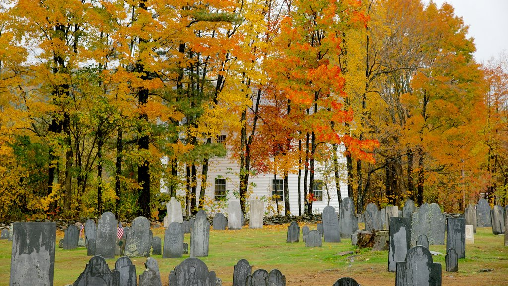 Chesterfield showing a cemetery and fall colors