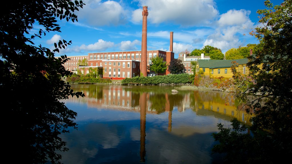 Exeter featuring a river or creek and industrial elements