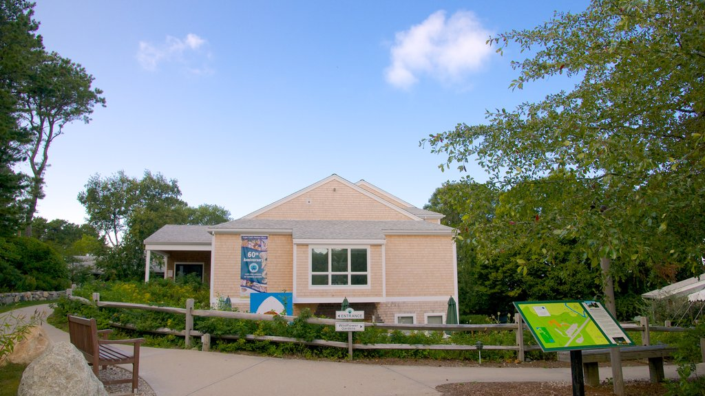 Cape Cod Museum of Natural History featuring a park and signage