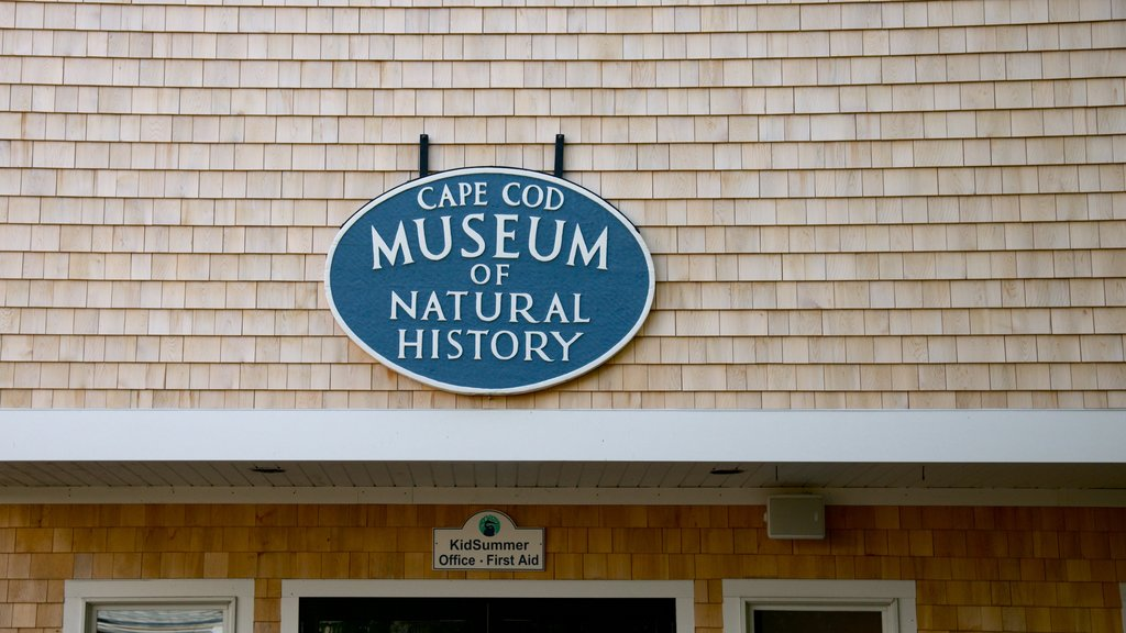 Cape Cod Museum of Natural History featuring signage