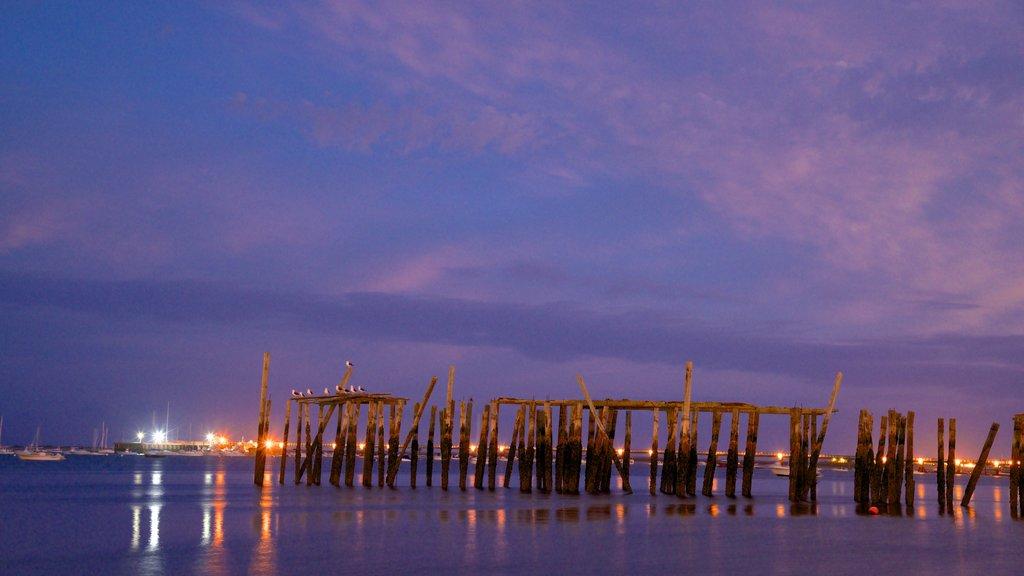 MacMillan Pier featuring general coastal views and night scenes