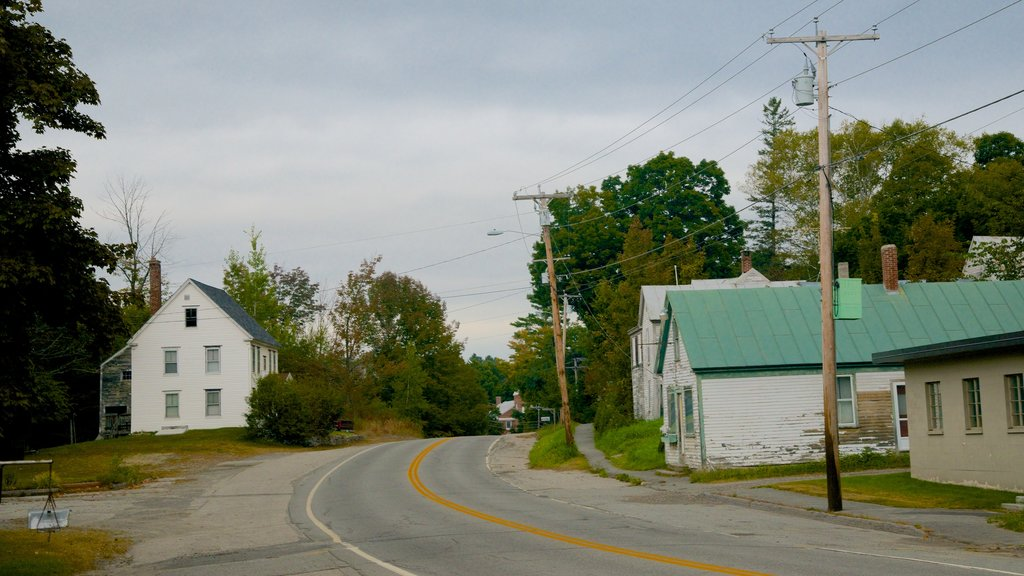 Maine featuring a small town or village, a house and street scenes