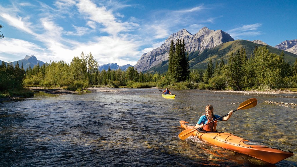 Banff National Park which includes mountains and kayaking or canoeing