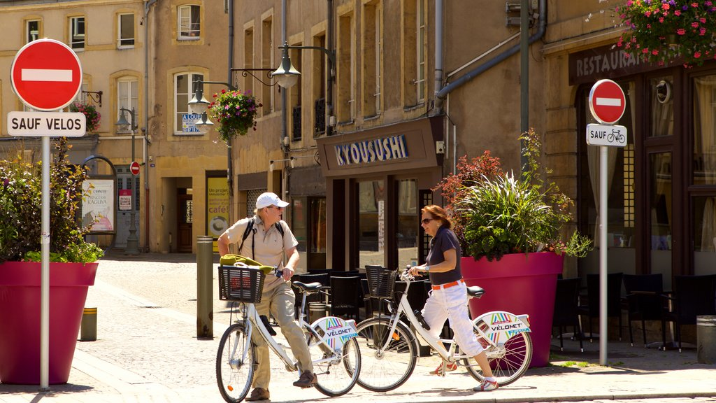 Metz showing street scenes as well as a couple