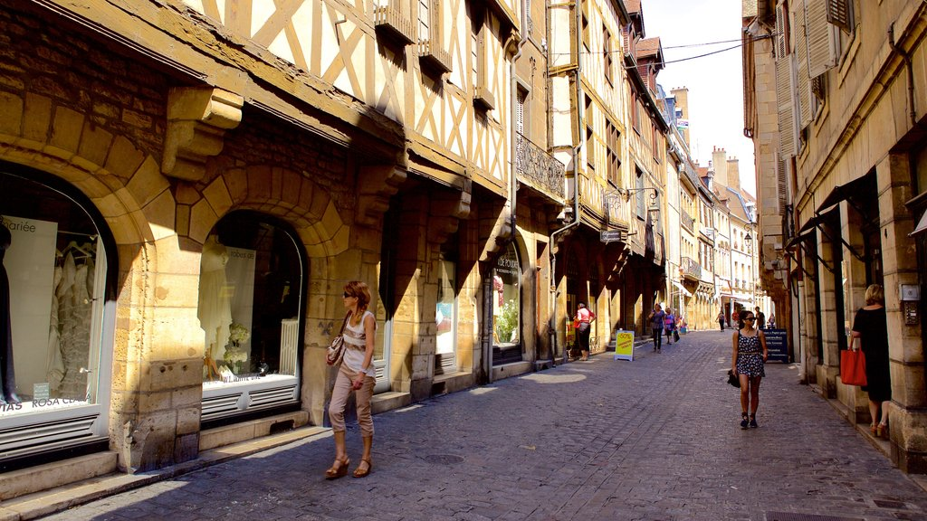 Dijon featuring a city, heritage elements and street scenes