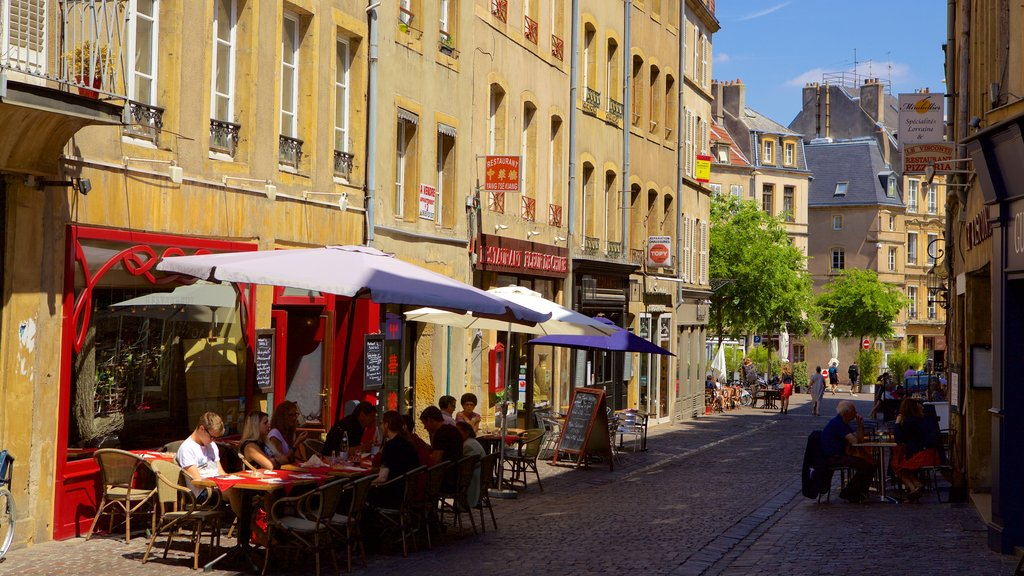 Metz showing street scenes, cafe scenes and outdoor eating