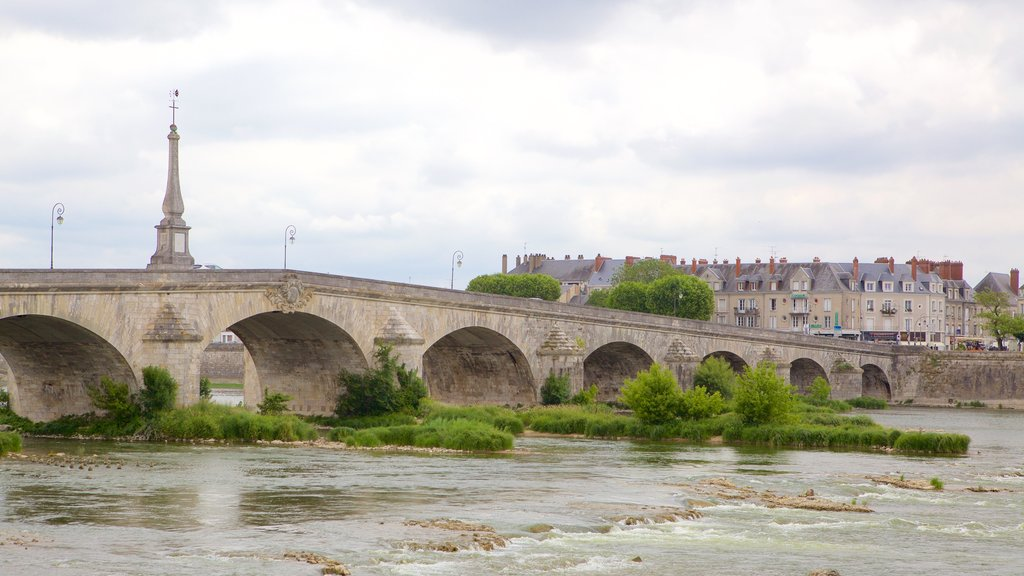 Blois which includes a bridge and a river or creek