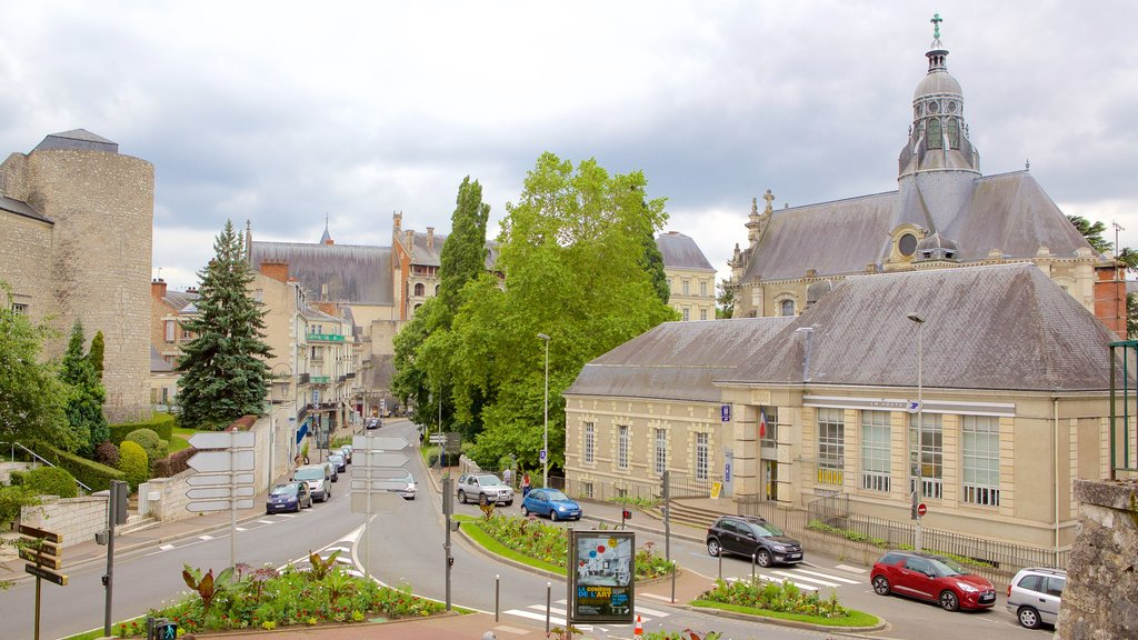 Blois which includes a small town or village and a city