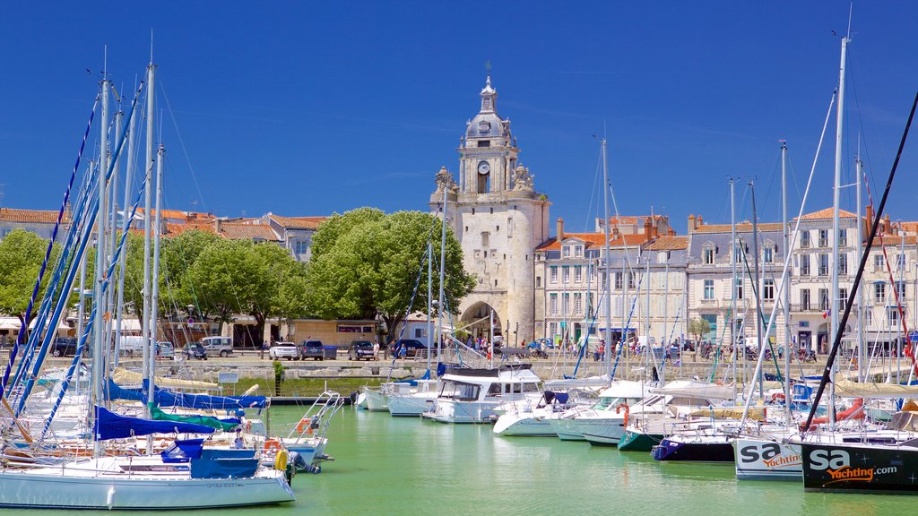 La Rochelle featuring a marina and a bay or harbor