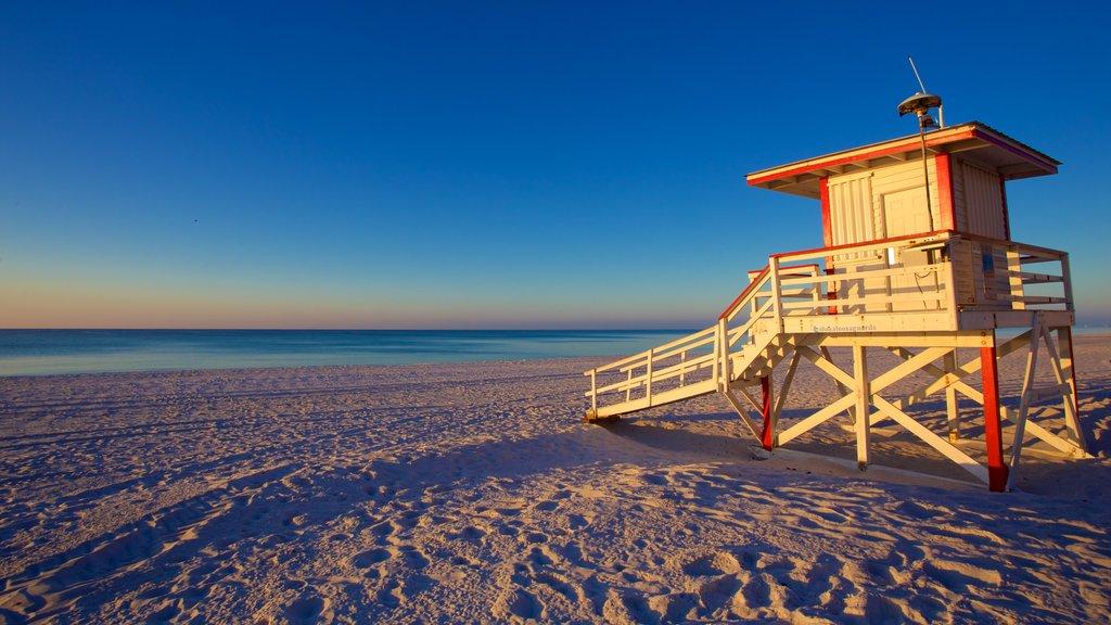 Okaloosa Island which includes a sandy beach