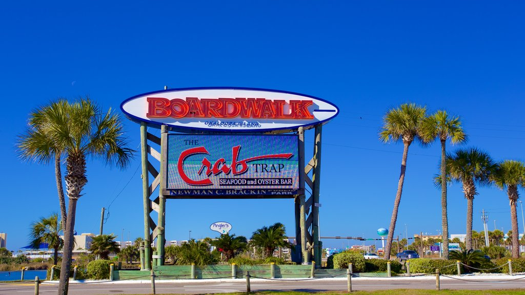 Okaloosa Island which includes signage