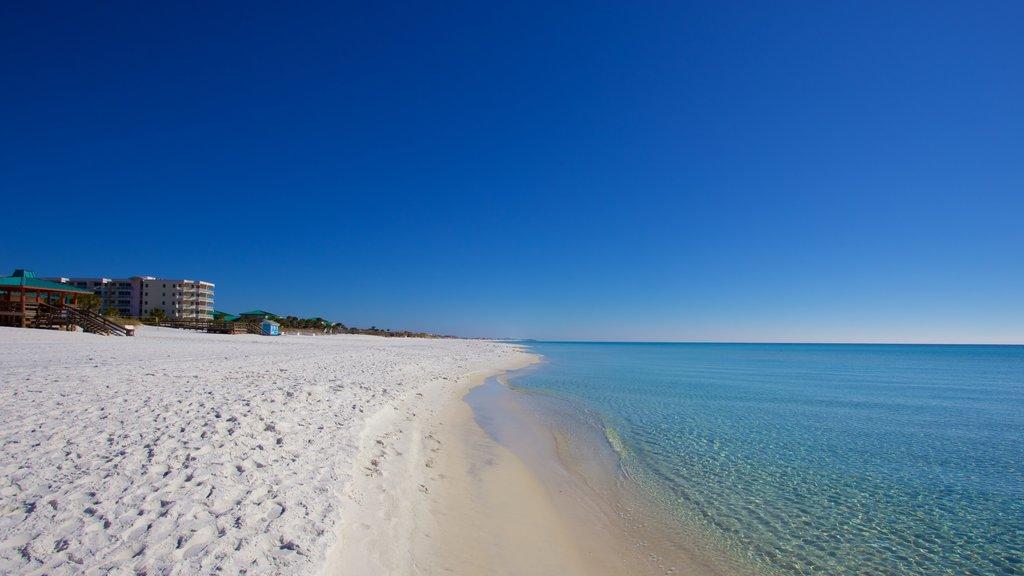 Okaloosa Island featuring a beach