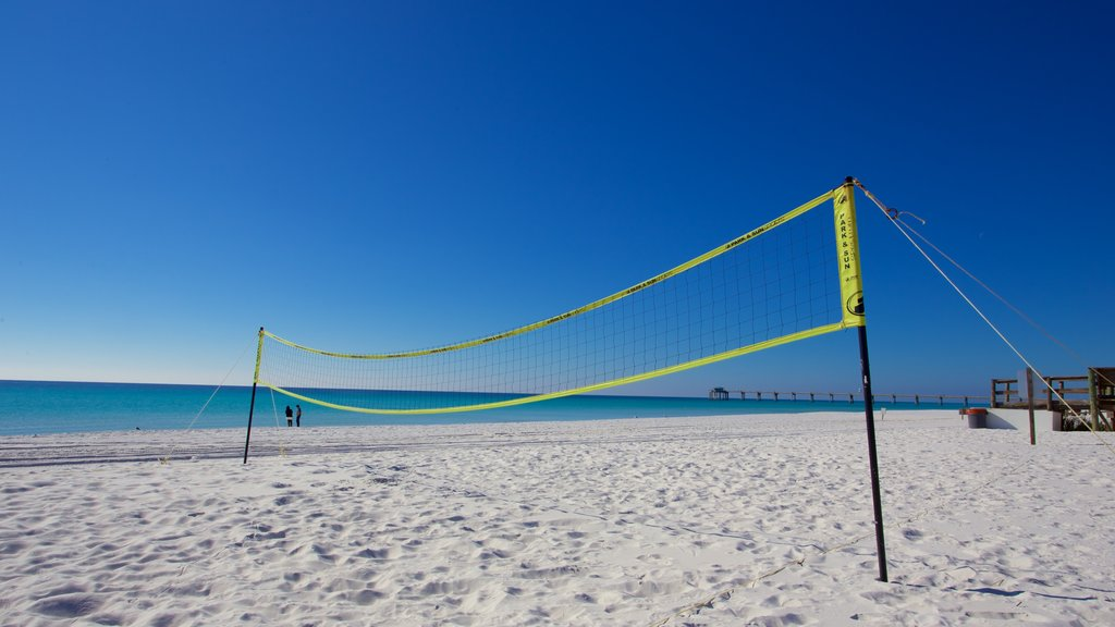 Okaloosa Island featuring a beach and a sporting event