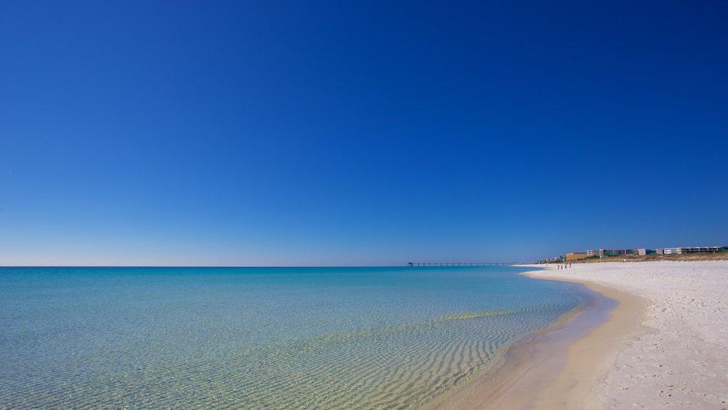 Okaloosa Island showing a beach
