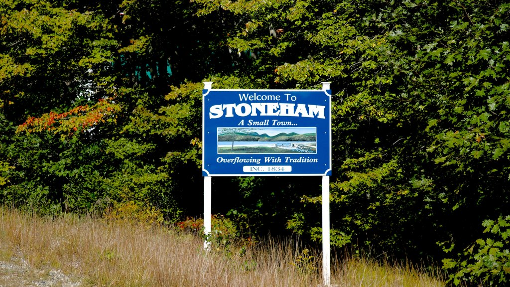 Stoneham which includes signage