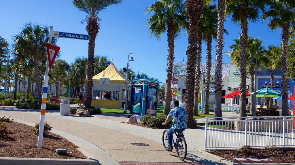 Pier Park caracterizando passeios assim como um homem sozinho