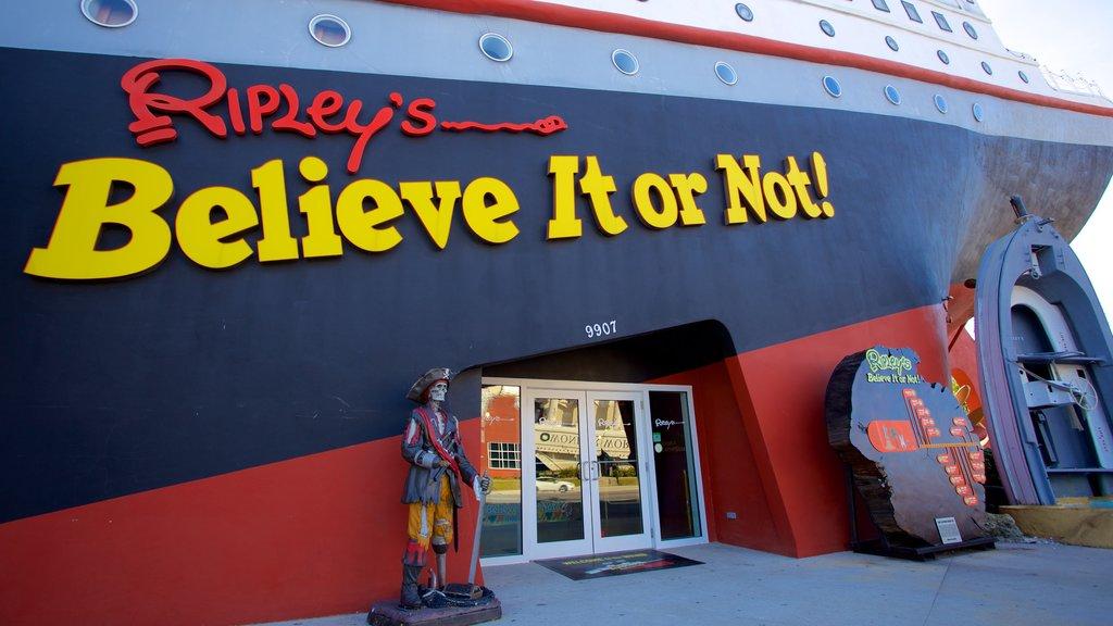 Ripley\'s Believe It or Not que inclui sinalização