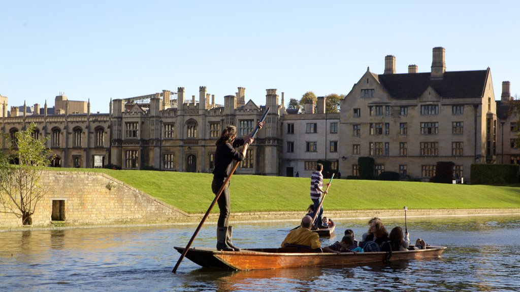 Cambridge which includes a river or creek, heritage elements and kayaking or canoeing