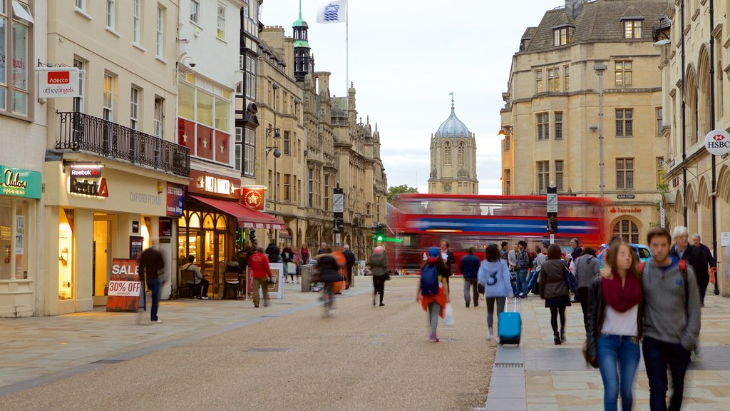 Oxford which includes street scenes as well as a small group of people