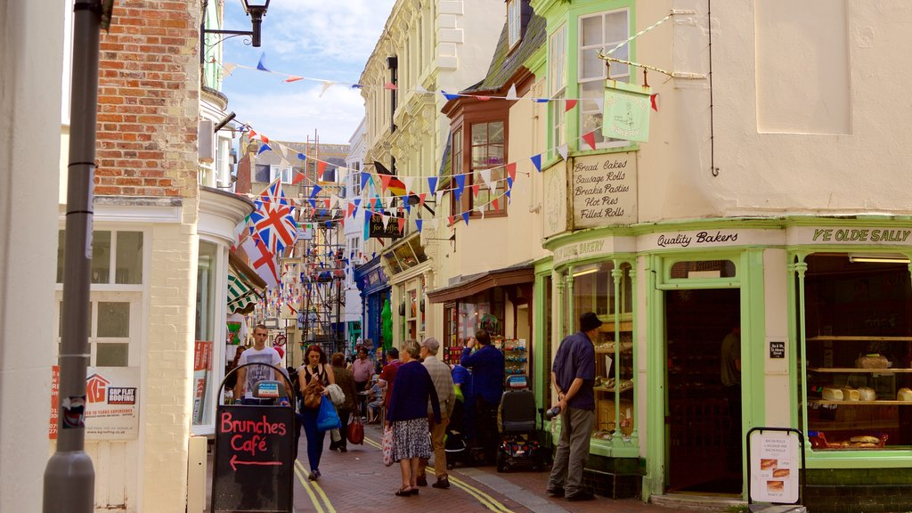 Weymouth which includes street scenes