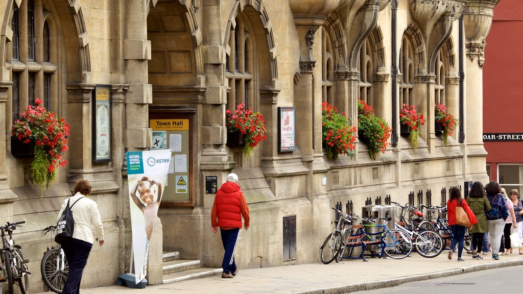 Oxford Town Hall which includes heritage elements and heritage architecture as well as an individual male