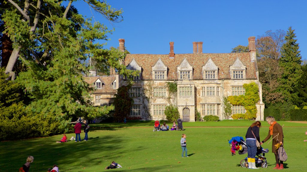 Anglesey Abbey featuring heritage architecture, a park and heritage elements
