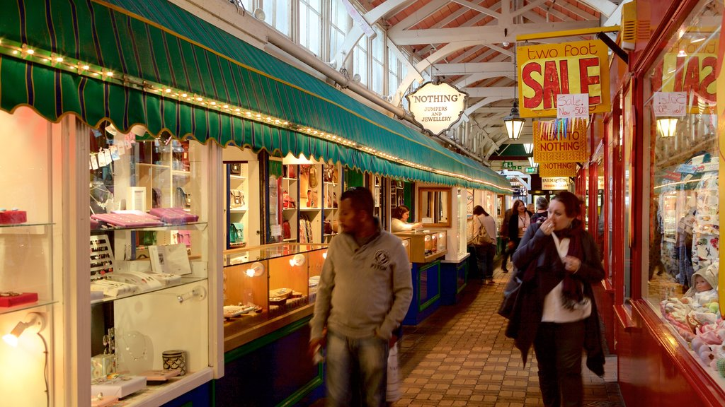 Covered Market which includes markets as well as a small group of people