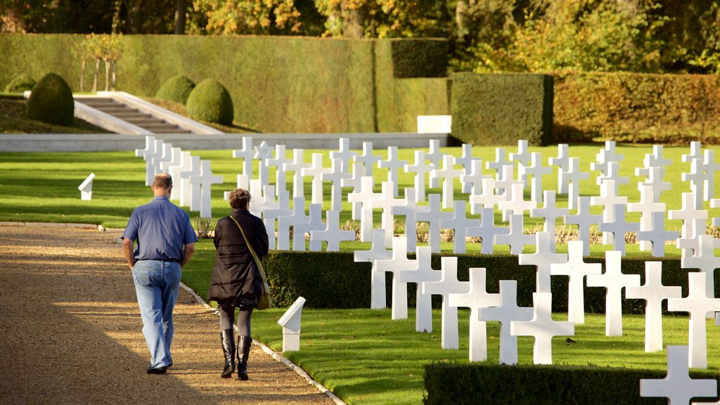 Cambridge American Cemetery and Memorial featuring a cemetery as well as a couple