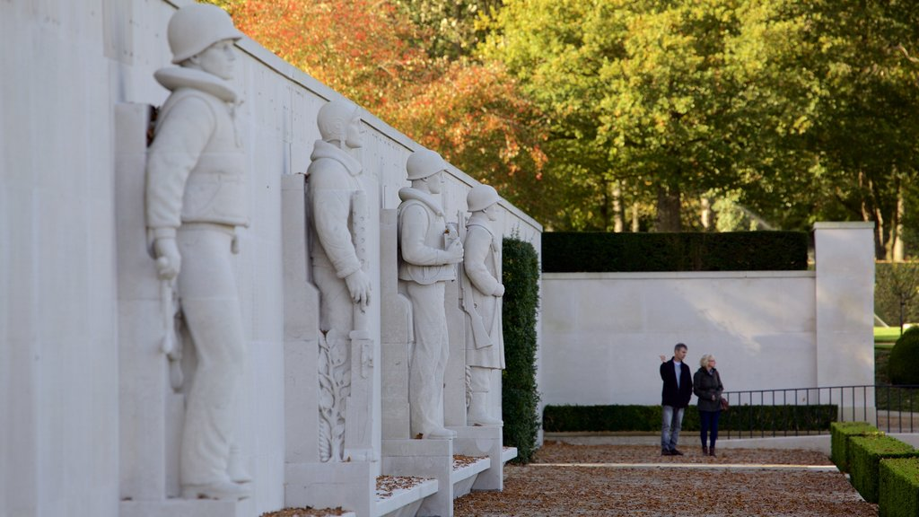 Cambridge American Cemetery and Memorial as well as a couple